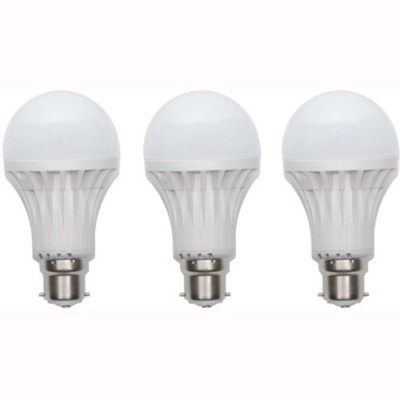 9W-Plastic-220-Lumens-White-LED-Bulb-(Pack-Of-3)