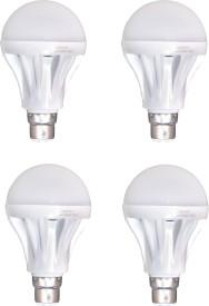 15 W B22 LED Bulb (White, Pack of 4)
