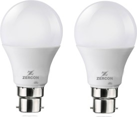 B22 5W LED Bulb (Cool White, Set of 2)