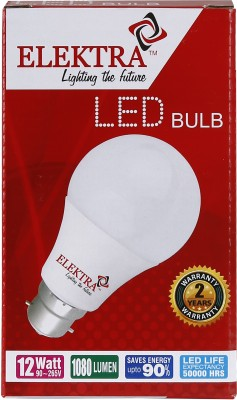Elektra-12W-1080L-LED-Bulb-(Yellow)