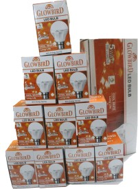 5W B22 LED Bulb (White, Set of 10)