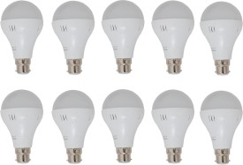 7W LED Bulbs (White, Pack of 10)
