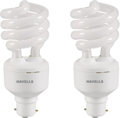 T3 B-22 23W CFL Bulb (Cool Day Light, Pack of 2)