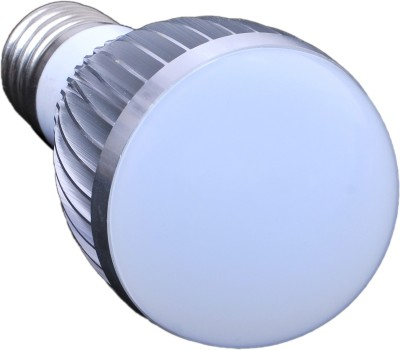 5.5W B22 LED Ashoka Bulb (White, Steel)