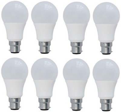 9 W LED Bulb (Yellow, Pack of 8)