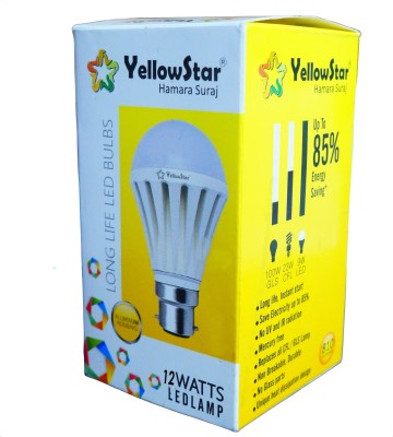 Yellowstar-12W-B22-LED-Bulb-(White,-Set-of-15)