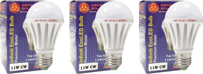 Eco E27 11W LED Bulb (Warm White, Pack of 3)
