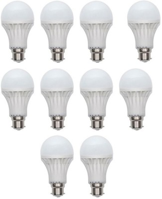 Gold-5W-Plastic-Body-Warm-White-LED-Bulb-(Pack-Of-10)