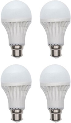 Gold-5W-Plastic-Body-Warm-White-LED-Bulb-(Pack-Of-4)