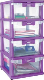 Nilkamal Plastic Free Standing Chest of Drawers