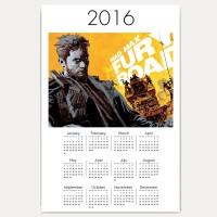 Hawtskin Mad Max Fury Road The Future Belongs To The Mad 18x12 Inch 2016 Wall Calendar (White, Fan Art)