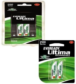 Eveready Ultima AA-AAA Battery Charger (with 4 Pc Rechargeable Nimh 2100 mAh batteries)
