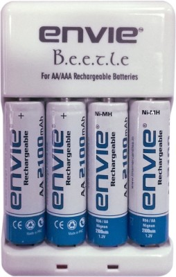Envie-Beetle-AA/AAA-2100mAh-Battery-Charger(With-4AA-Ni-MH-Batteries-)