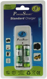 Power Smart PS325 Standard Charger with 4 AA Batteries(2100mAh Capacity) Battery Charger