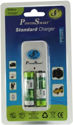 Power Smart Standard Charger with 2 AA Batteries(2100mAh Capacity) Battery Charger