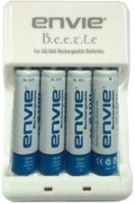Envie Beetle Charger ECR 20 + 4xAA 1000 Ni Cd Battery
