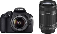 Canon EOS 1200D (Kit with 8 GB Card & Bag EF S18-55 IS II+55-250mm IS II) DSLR Camera
