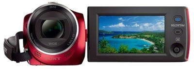 Sony HDR-PJ240E/R with Projector Full HD Camcorder Camera Red