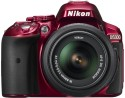 Nikon D5300 DSLR Camera - Red, Body With AF-S 18-55 Mm VR Lens