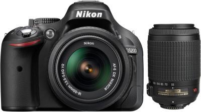 Nikon D5200 (with AF-S 18 - 55 Mm VR Kit + Nikon AF-S DX VR Zoom-Nikko SLR - Black