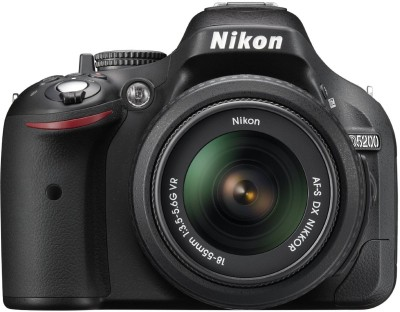 Nikon D5200 DSLR Camera Black, Body with AF S DX NIKKOR 18 55 mm F/3.5 5.6G VR II Lens available at Flipkart for Rs.34500