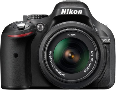 Nikon D5200 DSLR Camera Black, Body with AF-S DX NIKKOR 18-55 mm F/3.5-5.6G VR II Lens