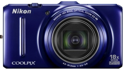 Nikon Coolpix S9300 Point & Shoot Camera Blue available at Flipkart for Rs.14999