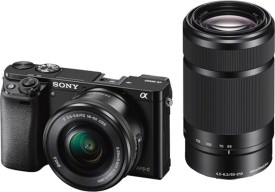 Sony Alpha ILCE-6000Y With SELP1650 And SEL55210 Lens DSLR Camera (Black)
