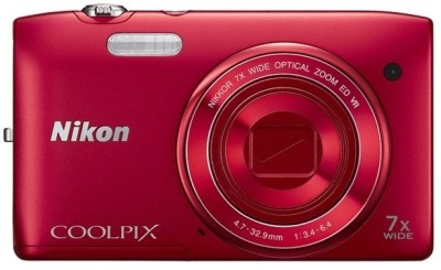 Nikon Coolpix S3500 Point & Shoot Camera(Red)