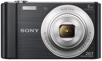 Sony CyberShot DSC W810 Point & Shoot Camera Black available at Flipkart for Rs.6290