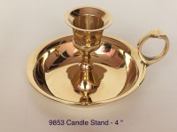 BHI-Fine Products Brass Candle Holder (Gold, Pack Of 1)