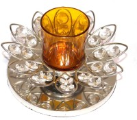 E Soft Crystal Tealight Holder (Clear, Pack Of 2)