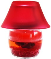 DIZIONARIO Lamp Rose 15cm Glass 1 - Cup Candle Holder (Red, Pack Of 1)