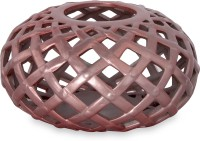 @home Earthy Wine Net Ceramic Candle Holder (Multicolor, Pack Of 1)