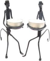 Villcart Monkey Iron 2 - Cup Tealight Holder (Black, Pack Of 4)