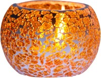 Craft Trade Glass Tealight Holder (Multicolor, Pack Of 1) - CTHEM6GFE7FHY9GW