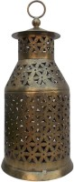 Indune Lifestyle Tower Antique Gold Iron Tealight Holder (Gold, Pack Of 1)