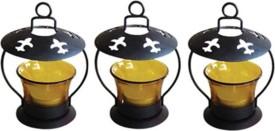 Craftatoz Iron, Glass Candle Holder