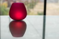 Homesake Glass Tealight Holder Set (Red, Pack Of 2)