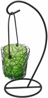 Painting Mantra Metal Hanging Green Bucket Aluminium 1 - Cup Tealight Holder (Multicolor, Pack Of 1)