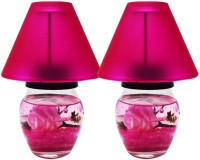 Dizionario Fragrance Lamp Rose 15cm Glass 2 - Cup Candle Holder (Pink, Pack Of 2)