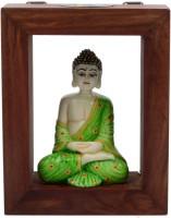 JaipurCrafts Lord Gautam Buddha Wooden, Stoneware 1 - Cup Tealight Holder (Multicolor, Pack Of 2)