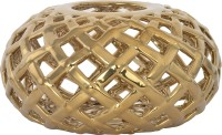 @home Enchanted Net Ceramic Candle Holder (Multicolor, Pack Of 1)