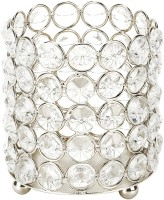 Being Nawab Crystal 1 - Cup Tealight Holder (Silver, Pack Of 1)