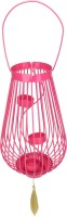 @home Cast Iron 3 - Cup Tealight Holder (Pink, Pack Of 1)
