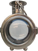 Indune Lifestyle Railway Lantern Iron Tealight Holder (Silver, Pack Of 1)