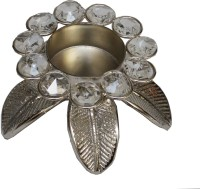 Veda Home & Lifestyle Brass Tealight Holder (Silver, Pack Of 1)