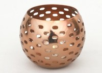 Dazzlingdelineations Iron 1 - Cup Candle Holder (Copper, Pack Of 1)