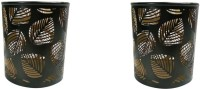 Dazzlingdelineations Iron Tealight Holder Set (Black, Gold, Pack Of 2) - CTHEG8AYVMWDDQTS