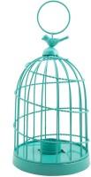 Chumbak Bird Cage Tea Light Holder - Teal Iron 1 - Cup Tealight Holder (Multicolor, Pack Of 1)